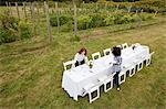 Women preparing table for dinner party in a field Stock Photo - Premium Royalty-Free, Artist: Allan Baxter, Code: 6114-06599930