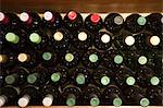 Wine bottles in restaurant wine rack Stock Photo - Premium Royalty-Free, Artist: Uwe Umstätter, Code: 6114-06600362