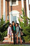 Mother with son and daughter outside home Stock Photo - Premium Royalty-Free, Artist: R. Ian Lloyd, Code: 6114-06600429
