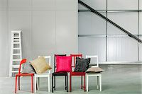 red chair - Cushions and chairs Stock Photo - Premium Royalty-Freenull, Code: 6114-06600455