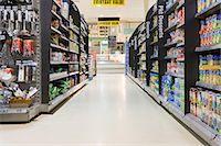 supermarket not people - Supermarket aisle Stock Photo - Premium Royalty-Freenull, Code: 6114-06600707
