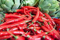 spicy - Red chillies Stock Photo - Premium Royalty-Freenull, Code: 6114-06600734