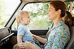 Mother and baby son in vehicle Stock Photo - Premium Royalty-Free, Artist: Transtock, Code: 6114-06600747