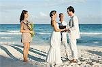 Married couple on beach with friends Stock Photo - Premium Royalty-Free, Artist: Aflo Relax, Code: 6114-06601179
