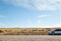 remote car - Car on desert road Stock Photo - Premium Royalty-Freenull, Code: 6114-06601600