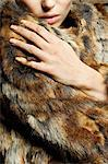 Young woman wearing fur coat Stock Photo - Premium Royalty-Free, Artist: ableimages, Code: 6114-06601757