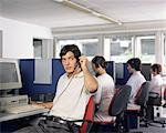 Call centre workers Stock Photo - Premium Royalty-Free, Artist: Cultura RM, Code: 6114-06602165