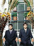 Two businessmen sitting a conservatory Stock Photo - Premium Royalty-Free, Artist: AWL Images, Code: 6114-06602242