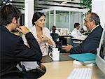 Business people meeting over coffee Stock Photo - Premium Royalty-Free, Artist: CulturaRM, Code: 6114-06602264