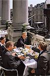 Business meeting in a restaurant Stock Photo - Premium Royalty-Free, Artist: Blend Images, Code: 6114-06602512