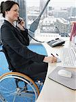 Woman at desk on telephone Stock Photo - Premium Royalty-Free, Artist: CulturaRM, Code: 6114-06602646