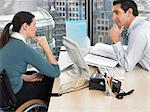 two office workers in meeting Stock Photo - Premium Royalty-Free, Artist: CulturaRM, Code: 6114-06602681