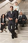 Businesspeople on stairs Stock Photo - Premium Royalty-Free, Artist: CulturaRM, Code: 6114-06602745
