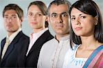 Four colleagues in a row Stock Photo - Premium Royalty-Free, Artist: Robert Harding Images, Code: 6114-06602770