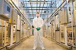 Scientist in protective suit Stock Photo - Premium Royalty-Free, Artist: Blend Images, Code: 6114-06603144