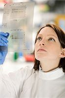 Scientist looking at DNA Stock Photo - Premium Royalty-Freenull, Code: 6114-06603151