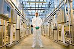 Scientist in protective suit Stock Photo - Premium Royalty-Free, Artist: Blend Images, Code: 6114-06603154