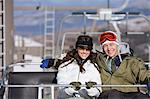 Couple on a chair lift Stock Photo - Premium Royalty-Free, Artist: Atli Mar Hafsteinsson, Code: 6114-06603347