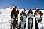 Skiers and snowboarders Stock Photo - Premium Royalty-Free, Artist: Blend Images, Code: 6114-06603362