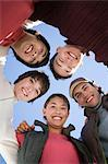 Friends in a huddle Stock Photo - Premium Royalty-Free, Artist: CulturaRM, Code: 6114-06603385