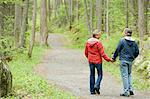 Couple walking in a forest Stock Photo - Premium Royalty-Free, Artist: Nico Tondini, Code: 6114-06604081