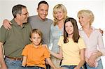 Portrait of a family Stock Photo - Premium Royalty-Free, Artist: Blend Images, Code: 6114-06604158