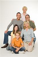 Portrait of a family Stock Photo - Premium Royalty-Freenull, Code: 6114-06604170
