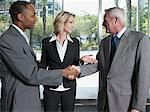 Businesspeople being introduced Stock Photo - Premium Royalty-Free, Artist: Blend Images, Code: 6114-06604259