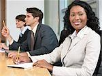 Businesswoman and colleagues in a meeting Stock Photo - Premium Royalty-Free, Artist: Aflo Relax, Code: 6114-06604275