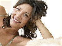 Portrait of a mature woman Stock Photo - Premium Royalty-Freenull, Code: 6114-06604342