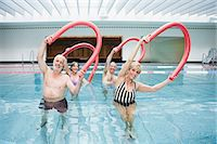 fitness older women gym - People exercising in a pool Stock Photo - Premium Royalty-Freenull, Code: 6114-06604395