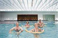 fitness older women gym - Mature adults doing water aerobics Stock Photo - Premium Royalty-Freenull, Code: 6114-06604412
