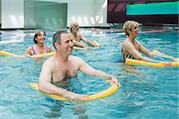 fitness older women gym - People doing water aerobics Stock Photo - Premium Royalty-Freenull, Code: 6114-06604420
