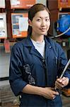 Female korean factory worker Stock Photo - Premium Royalty-Free, Artist: Westend61, Code: 6114-06604502