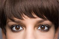Eyes of a young woman Stock Photo - Premium Royalty-Freenull, Code: 6114-06604553