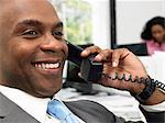 Businessman on telephone Stock Photo - Premium Royalty-Free, Artist: Blend Images, Code: 6114-06604664