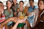 Friends toasting in a bar Stock Photo - Premium Royalty-Free, Artist: Blend Images, Code: 6114-06604824