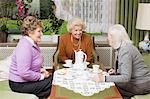 Friends gossiping Stock Photo - Premium Royalty-Freenull, Code: 6114-06604854