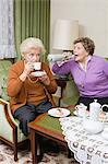 Senior woman shouting at friend Stock Photo - Premium Royalty-Free, Artist: Minden Pictures, Code: 6114-06604858