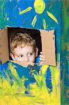 Boy hiding Stock Photo - Premium Royalty-Free, Artist: Science Faction, Code: 6114-06604906