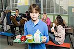 Boy in cafeteria Stock Photo - Premium Royalty-Free, Artist: Angus Fergusson, Code: 6114-06605014