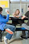 Teenagers in cafeteria Stock Photo - Premium Royalty-Freenull, Code: 6114-06605016