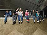 Group of teenagers at skate ramp Stock Photo - Premium Royalty-Free, Artist: Uwe Umstätter, Code: 6114-06605231