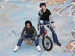 Two teenage boys with bmx Stock Photo - Premium Royalty-Free, Artist: Blend Images, Code: 6114-06605246