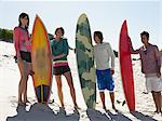 Friends with surfboards Stock Photo - Premium Royalty-Free, Artist: Cultura RM, Code: 6114-06605455
