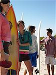 Friends with surfboards Stock Photo - Premium Royalty-Free, Artist: Cultura RM, Code: 6114-06605472