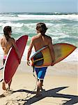 Surf couple Stock Photo - Premium Royalty-Free, Artist: Cultura RM, Code: 6114-06605473