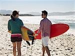 Couple going surfing Stock Photo - Premium Royalty-Free, Artist: Cultura RM, Code: 6114-06605475