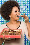 Woman with box of chocolates Stock Photo - Premium Royalty-Free, Artist: Christina Krutz, Code: 6114-06605755