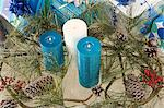 Candles in a christmas display Stock Photo - Premium Royalty-Free, Artist: Jose Luis Stephens, Code: 6114-06605772